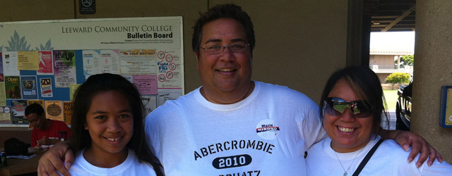 Abercrombie is going to keep using platforms like Facebook, Twitter, YouTube and Flickr as he runs the Aloha State.
