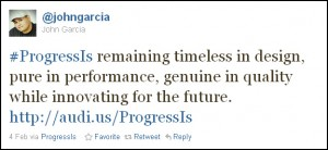 #ProgressIs remaining timeless in design, pure in performance, genuine in quality while innovating for the future.