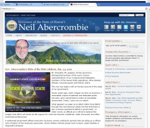 Gov. Abercrombie's Official State of Hawaii Site