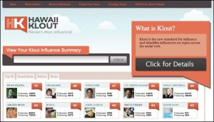 Hawaii Klout